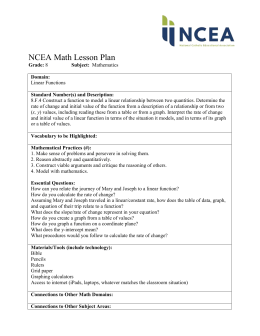 NCEA Math Lesson Plan Grade: 8 Subject: Mathematics Domain