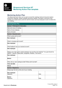 Mentoring Action Plan template
