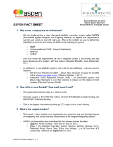 aspen fact sheet - New Mexico Human Services Department