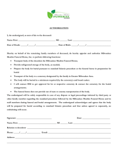 Funeral Home Application - Masjid Al-Huda