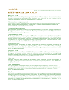 Award Guide - Society of Women Engineers