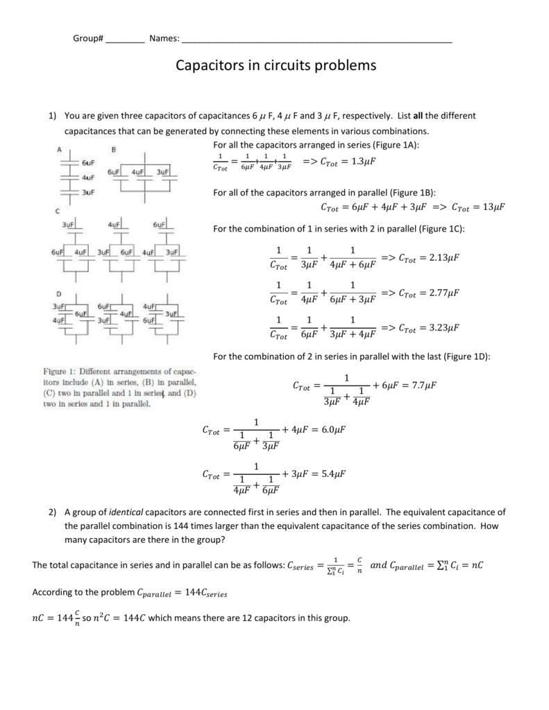 worksheetseries circuit problems solutions