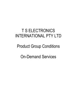 TSE SFOA Product Group Conditions On Demand Services 180909