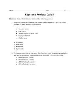 Keystone 5 Final Review