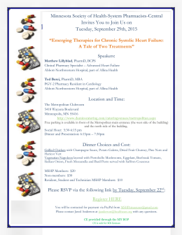 Meeting Flyer - Minnesota Society of Health