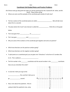 Coordinate Grid Guided Notes and Practice Problems