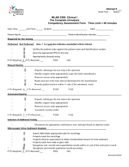 Urinalysis Microscopy Procedure-SOP