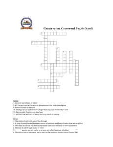 Crossword: Conservation