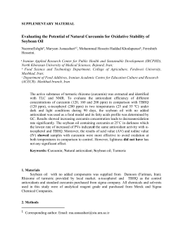 Evaluating the Potential of Natural Curcumin for Oxidative