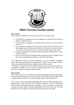 BMGC Extreme weather policy