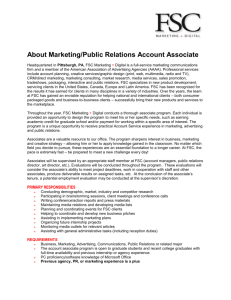 Marketing/Public Relations Application