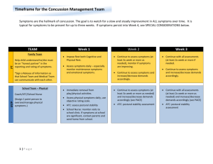 Time-Frame for Concussion Management Teams