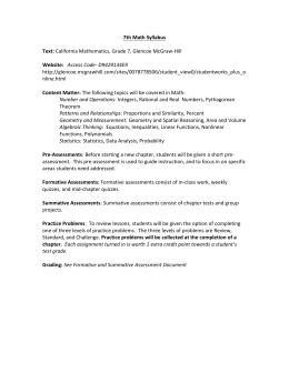 7th Syllabi - St. Jerome Catholic School