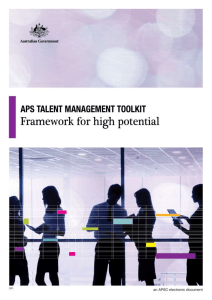 Talent Management Toolkit APS Framework for High Potential