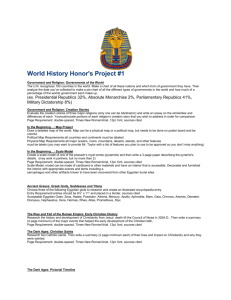 World History Honor`s Project #1