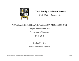 Middle School Campus Improvement Plan