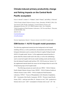 ESM Section 1: HLFG1 Ecopath model parameters