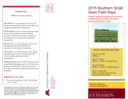 Small Grains Field Day brochure