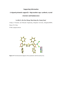 Synthesis and crystal structures of a molecular rectangular and a