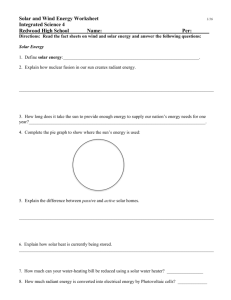 wind and solar energy worksheet - Tamalpais Union High School