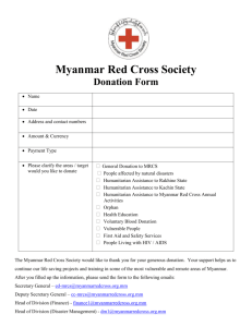 Myanmar Red Cross Society Donation Form
