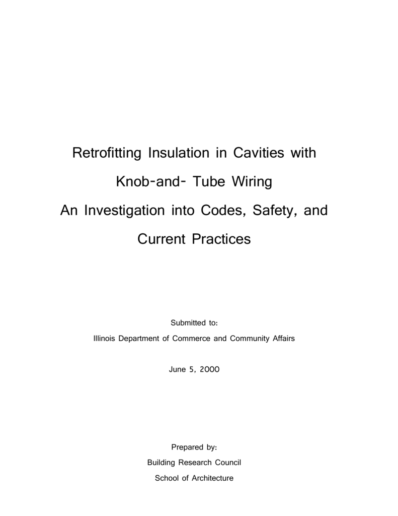Retroing Insulation in Cavities with Knob-and on tube fuses, tube terminals, tube assembly, tube dimensions,