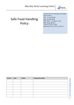 Safe Food Handling Policy_BB_2012