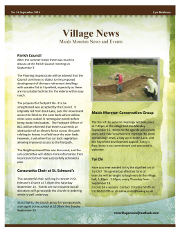 Village News - Maids Moreton