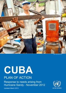 Cuba Plan of Action - Response to needs arising from Hurricane