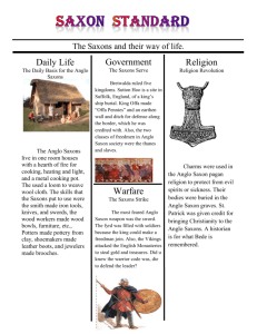 Anglo Saxon Newsletter