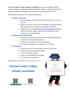 Why should you join the Tarrant County College Alumni Association?
