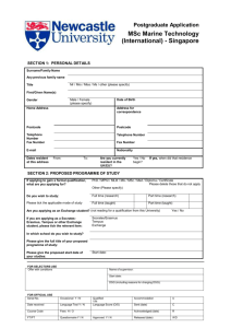 application form - Newcastle University