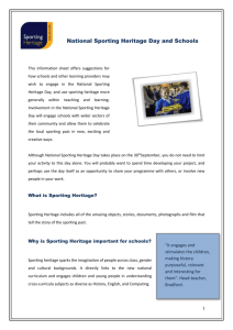Formal Learning 2015 - National Sporting Heritage Day