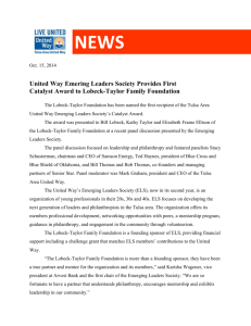 United Way Emering Leaders Society Provides First Catalyst Award