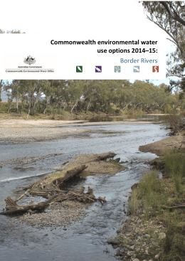Commonwealth environmental water use options 2014*15: Border