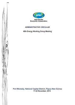 ADMINISTRATIVE CIRCULAR 48th Energy Working Group Meeting