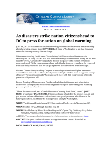As disasters strike nation, citizens head to DC to press for action on