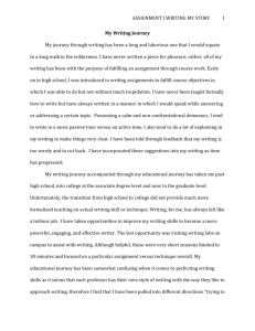 My Writing Journey.Assignment 1