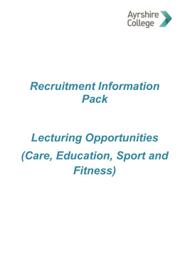 Recruitment Information Pack