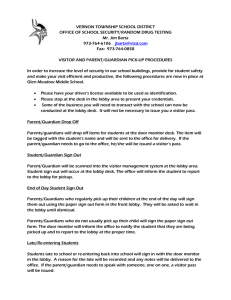 Raptor Parent Procedures Letter - Vernon Township School District