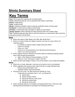 Shinto Summary Sheet