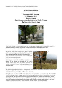 European CLC Holiday 2 - 8 August, 2015 Biviers, France Saint