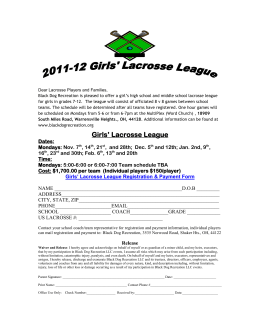 Girls` Lacrosse League
