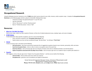 Occupational Research Worksheet