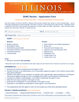 DURC Review Application Form - Division of Research Safety
