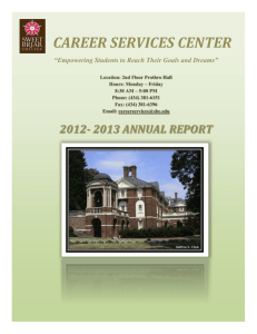 Career Services Annual Report