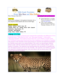 Third Grade Newsletter from Ms