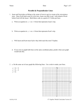 Activity 4.4.6 Parallel and Perpendicular Lines