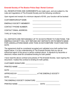 Emerald Society of The Boston Police Dept. Rental Contract