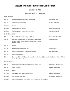 EMMC 2015 Agenda - Billings Clinic